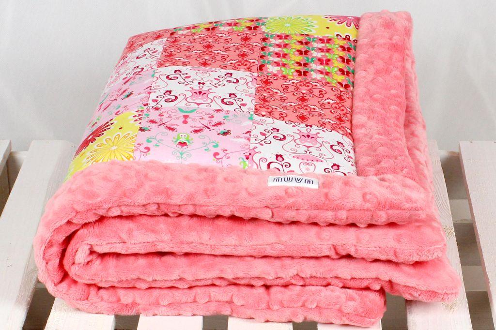 kocyk patchwork kwiaty 3