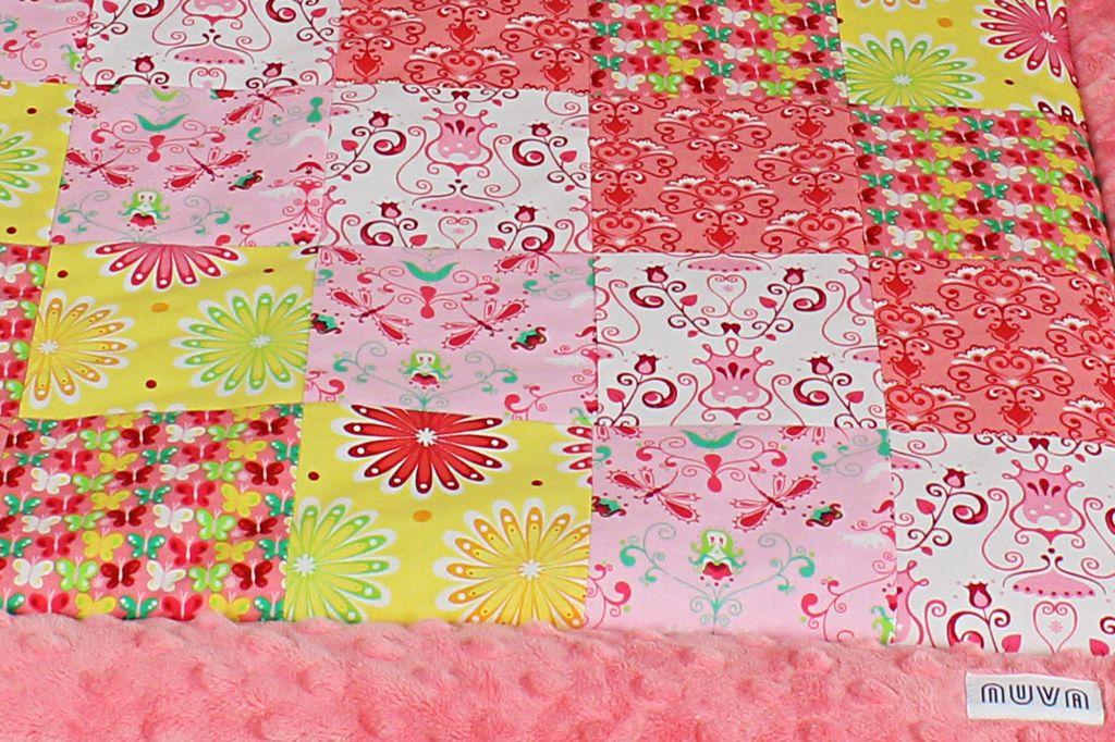 kocyk patchwork kwiaty