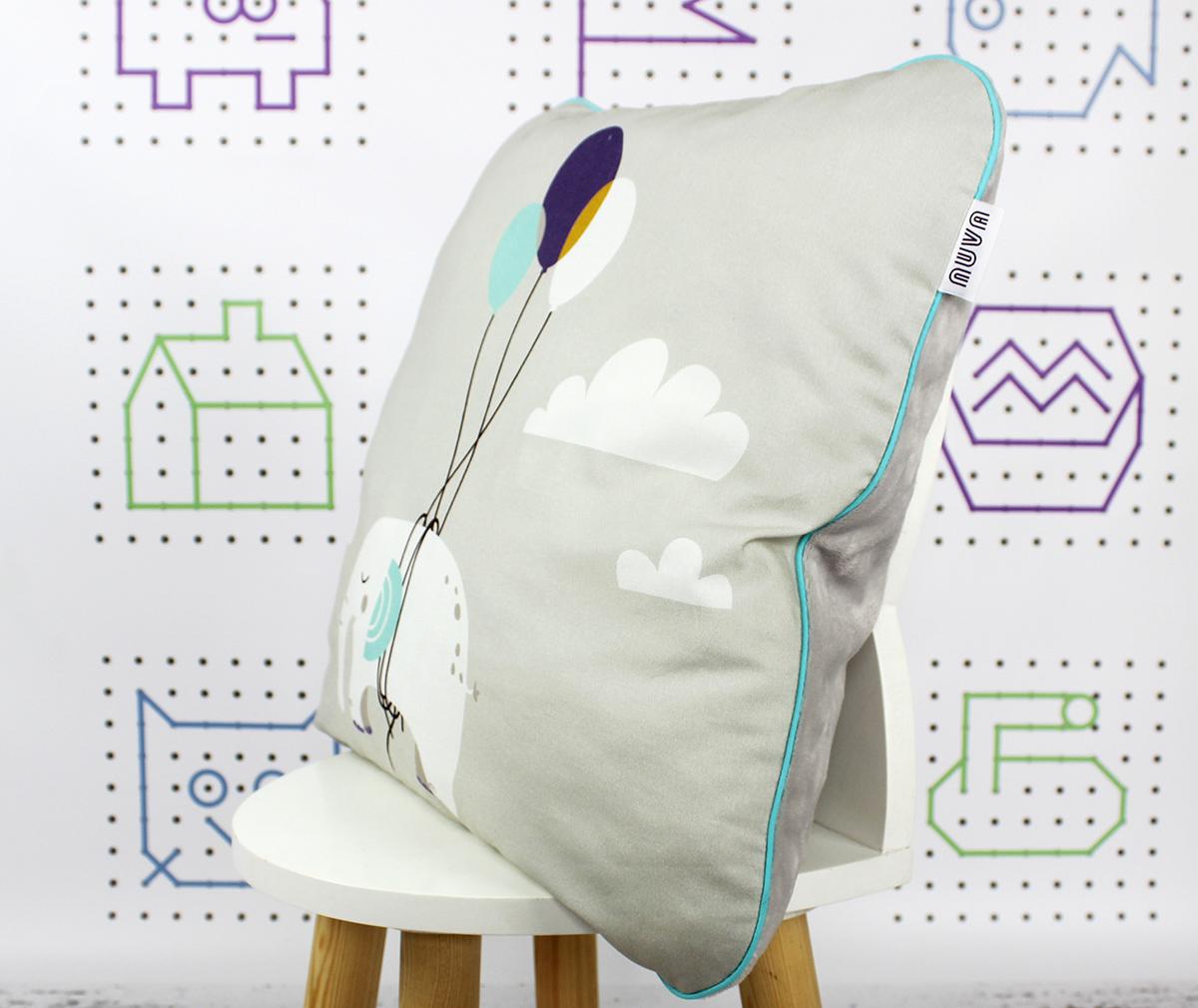 poduszka dekoracyjna słoń