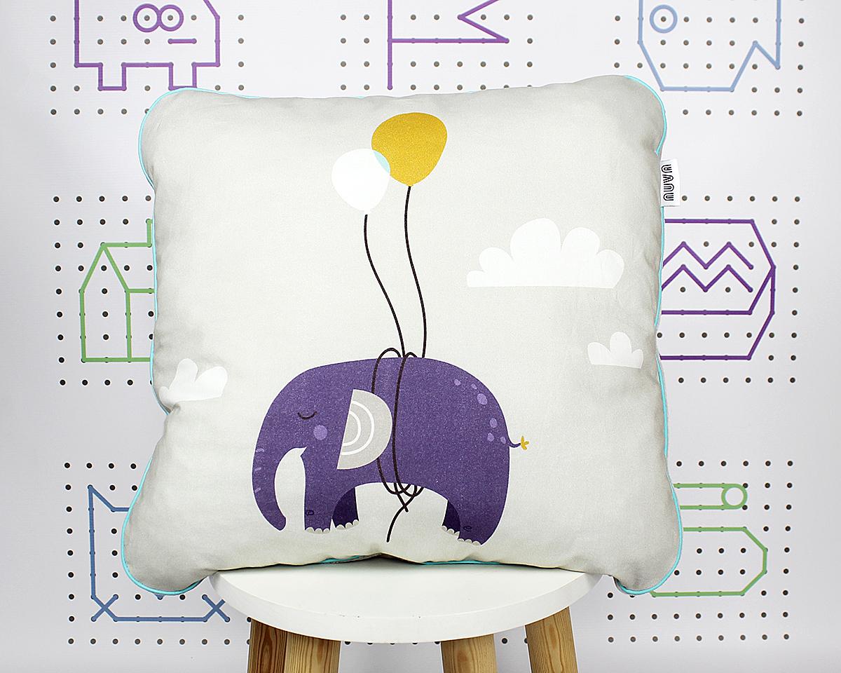 poduszka słoń fiolet