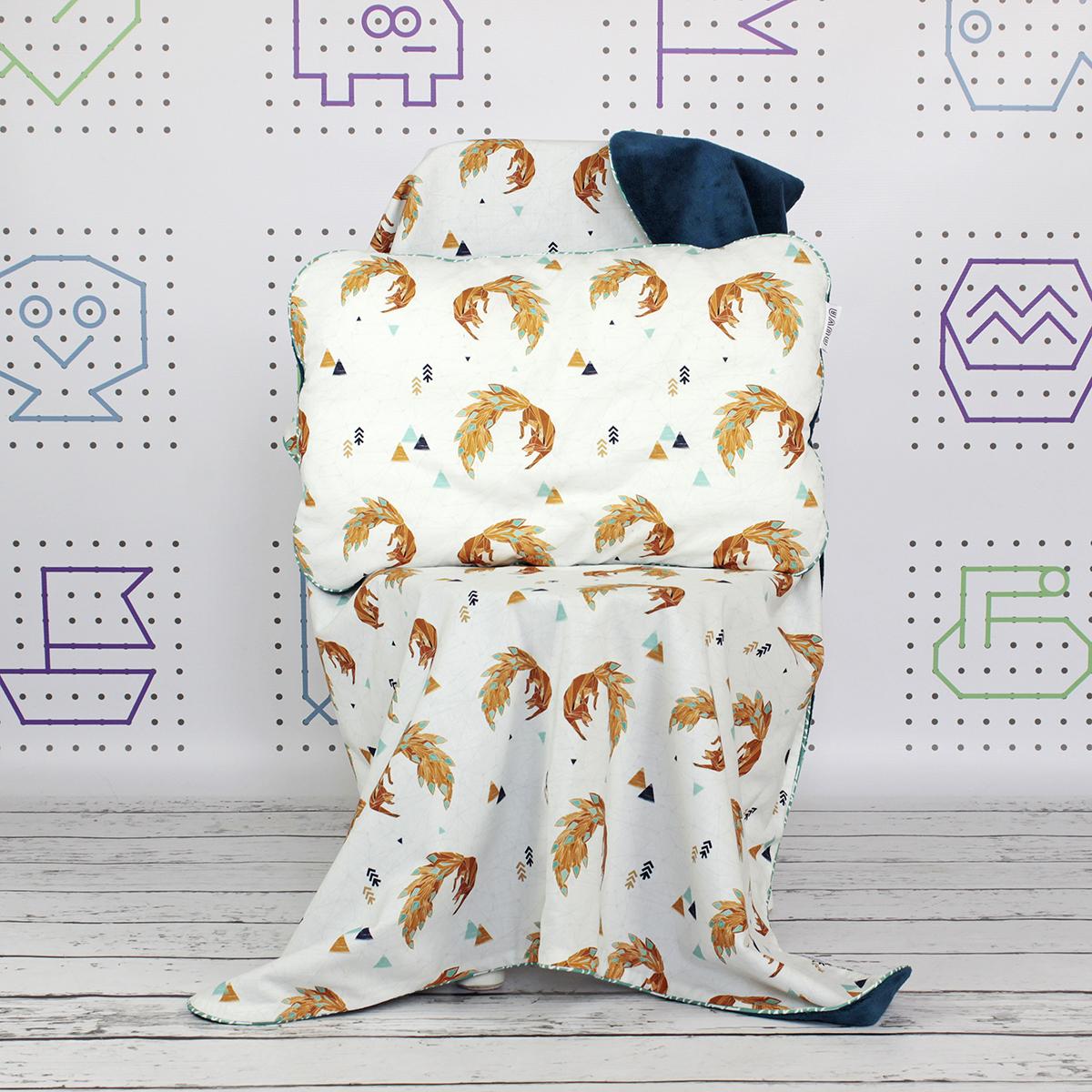 zestaw kocyk i poduszka dla niemowlaka