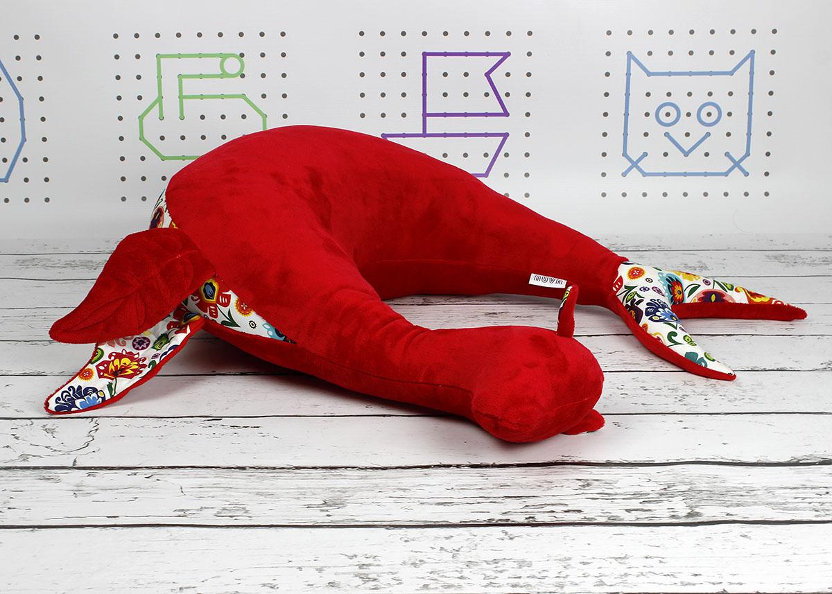 poduszka rogal czerwona foka