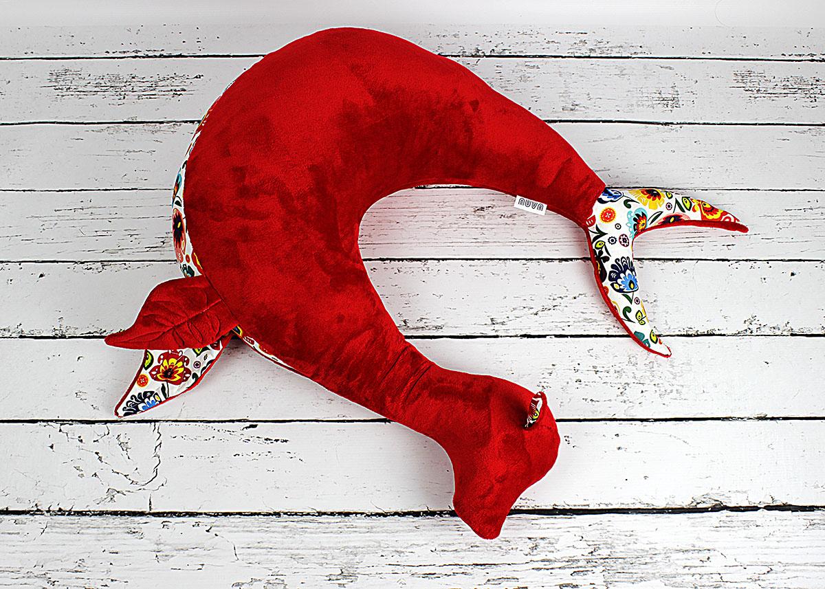 poduszka rogal foka czerwona