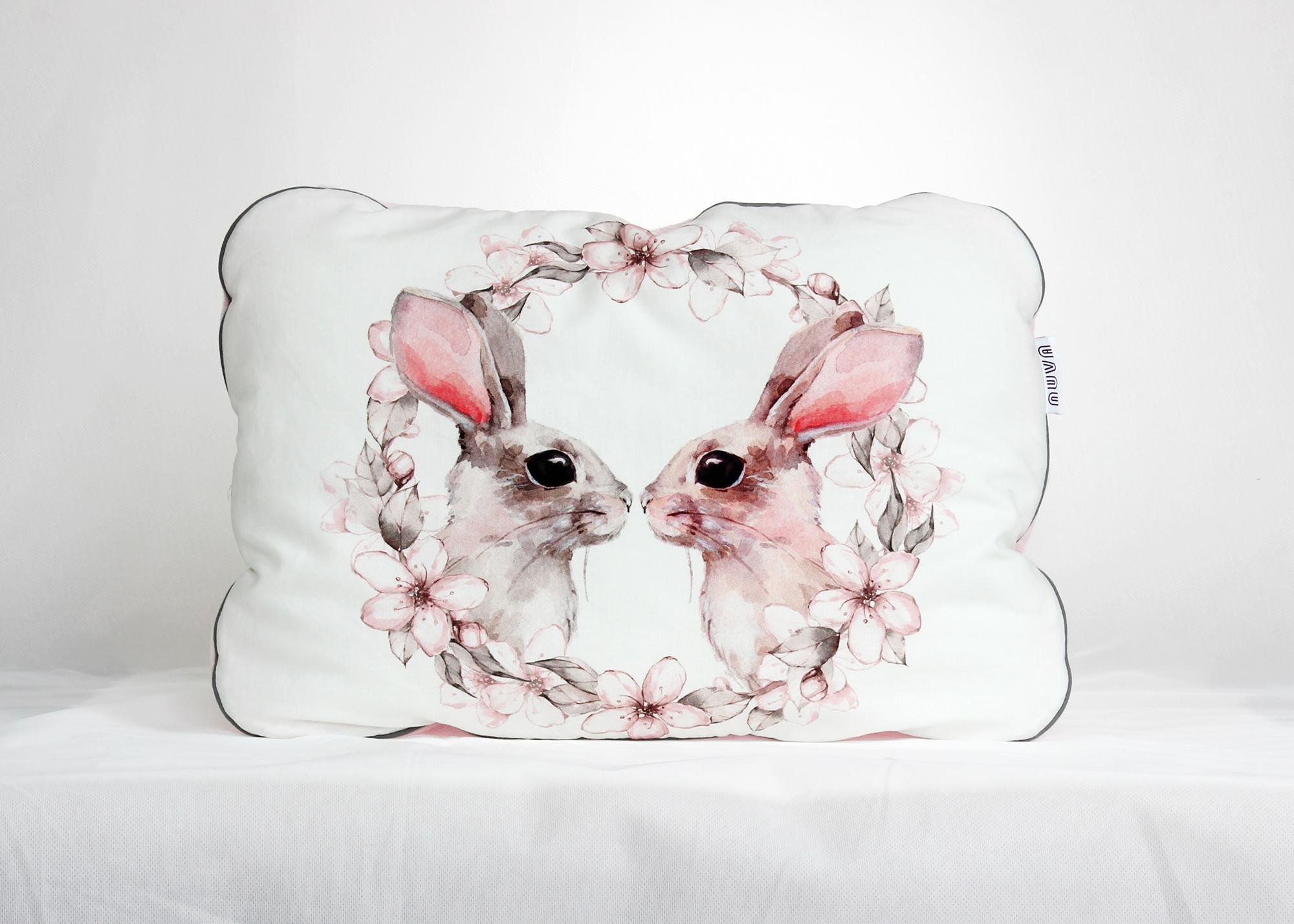 płaska poduszka królik
