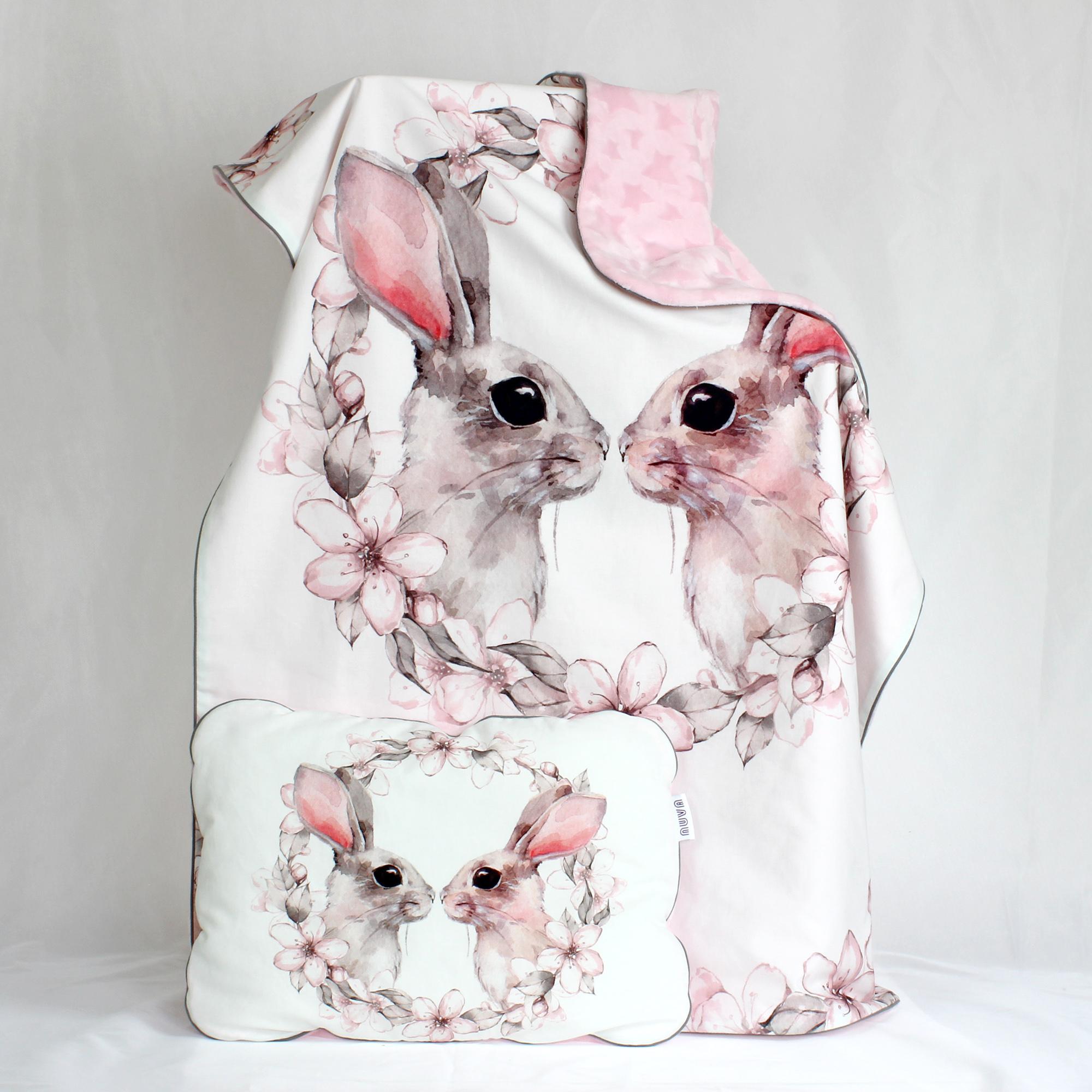 kocyk i poduszka królik