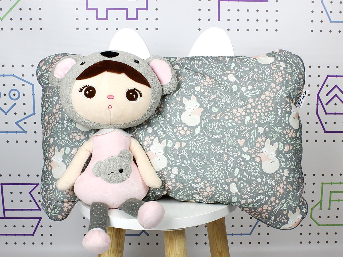 poduszka dla dziecka lis szary