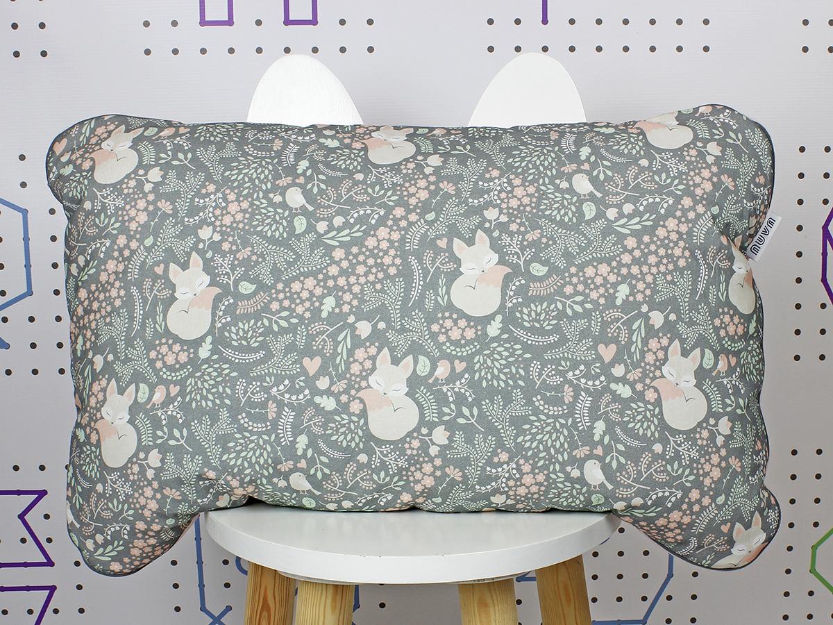 poduszka śpiący lis szary