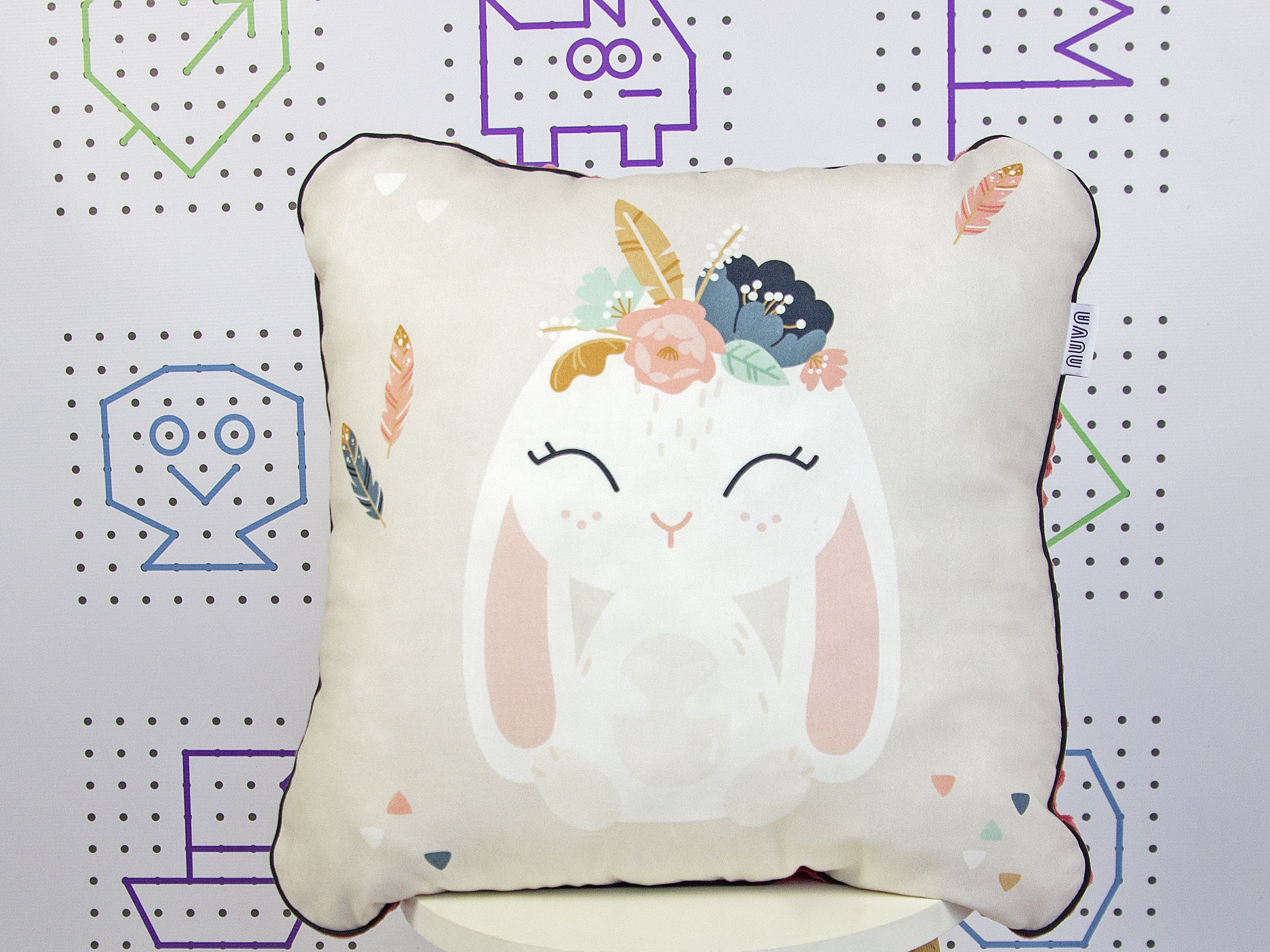 bunny decorative pillow