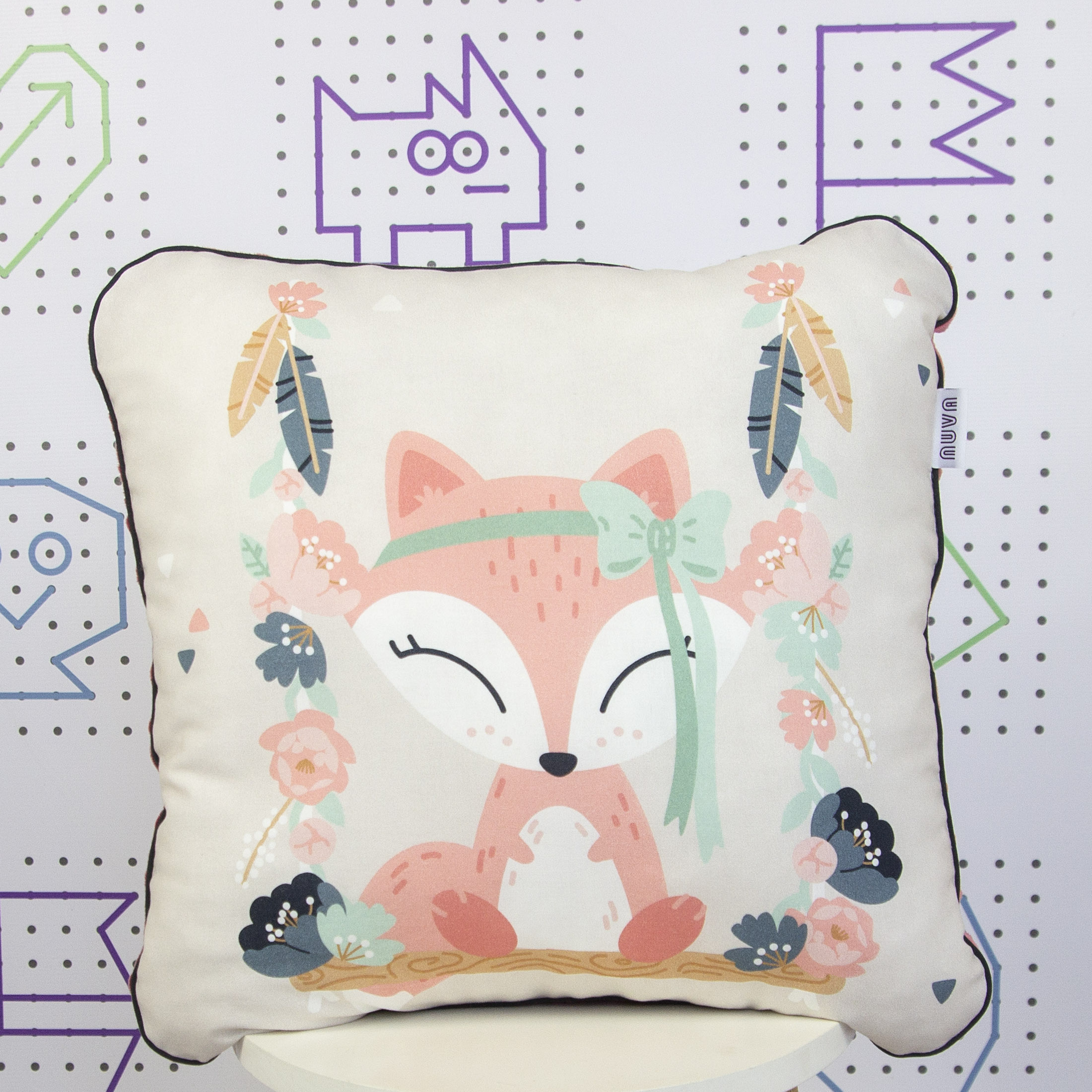 fox decorative pillow